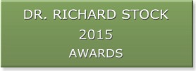 Richard Stock, MD 2015 awards banner